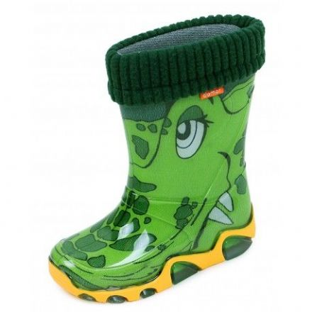 Demar/Toughees WELLIES With Fleece Sock (Croc) 30/31 only!